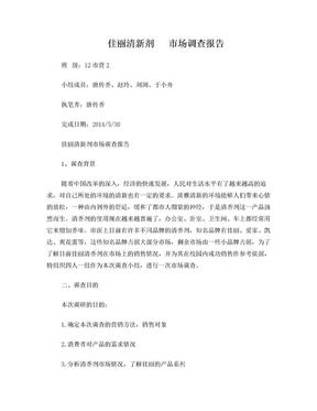 佳丽清新剂    市场调查报告.doc