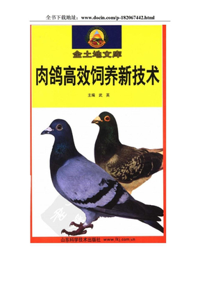 肉鸽高效饲养新技术.doc