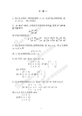 矩阵论简明教程习题答案.pdf