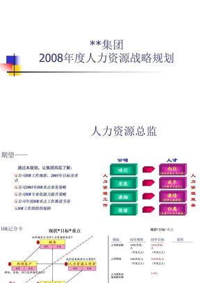 00集团-2008年度人力资源战略规划KL.ppt
