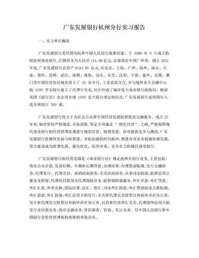 广发银行实习报告(总结).doc