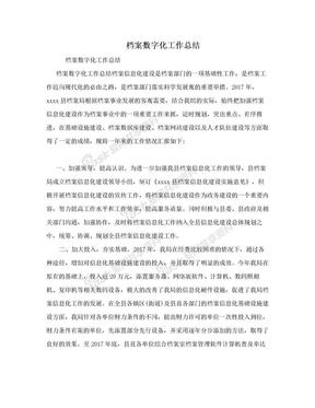 档案数字化工作总结.doc