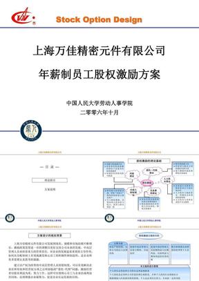 年薪制员工股权激励方案.ppt
