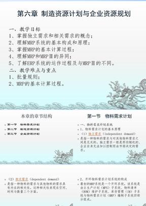 第六章 制造资源计划与企业资源.ppt