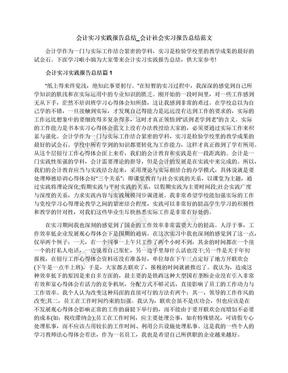 会计实习实践报告总结_会计社会实习报告总结范文.docx