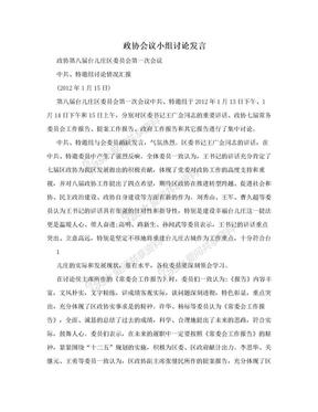 政协会议小组讨论发言.doc