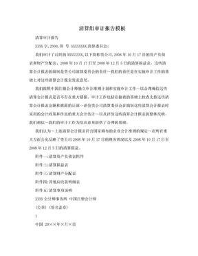 清算组审计报告模板.doc