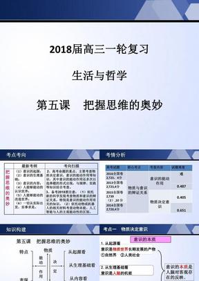 2018届高三一轮复习把握思维的奥妙.ppt