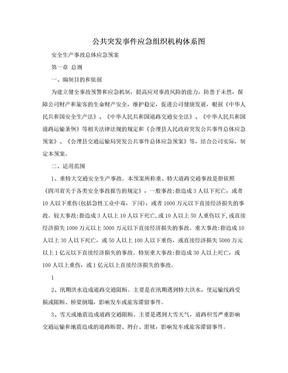 公共突发事件应急组织机构体系图.doc