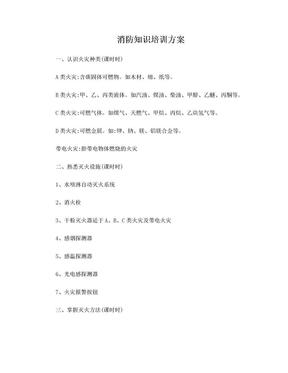 消防知识培训方案.doc