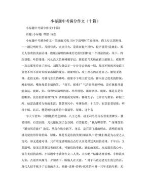小标题中考满分作文(十篇).doc