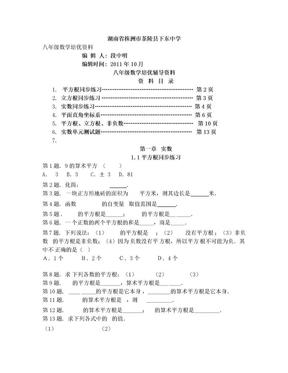 八年级数学培优辅导资料.doc