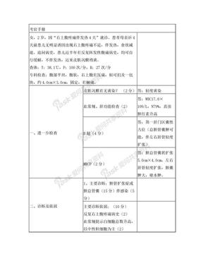小儿外科规范化培训案例分析题.doc