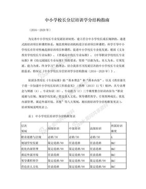 中小学校长分层培训学分结构指南.doc