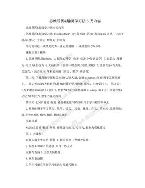 思维导图&超级学习法6天内容.doc