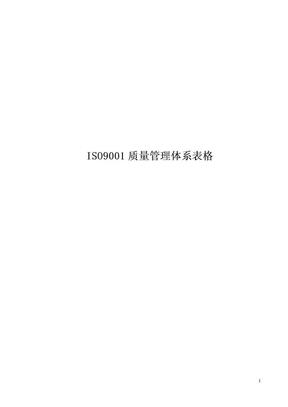 ISO9001质量管理体系表格.doc