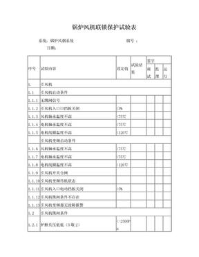 锅炉联锁保护试验记录表.doc