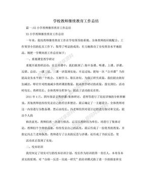 学校教师继续教育工作总结.doc