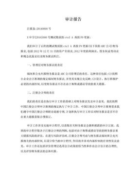 小企业会计准则附注模板.doc