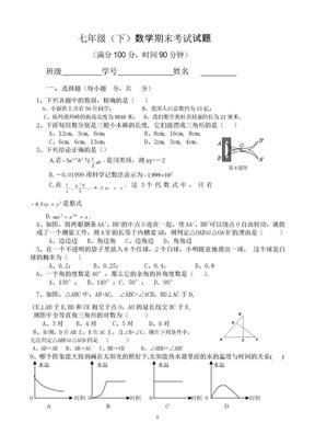 七年級下數學試題.doc