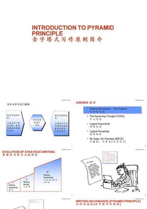 金字塔式写作原则简介.ppt