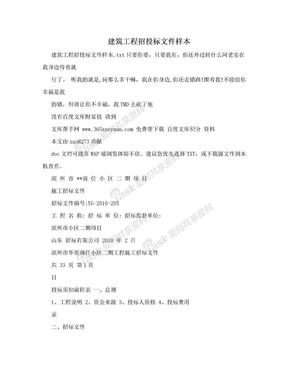 建筑工程招投标文件样本.doc
