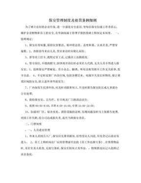 保安管理制度及处罚条例细则.doc