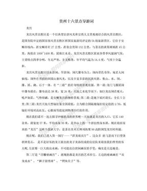 贵州十六景点导游词.doc