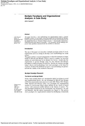 Multiples paradigms and organizational analysis.pdf