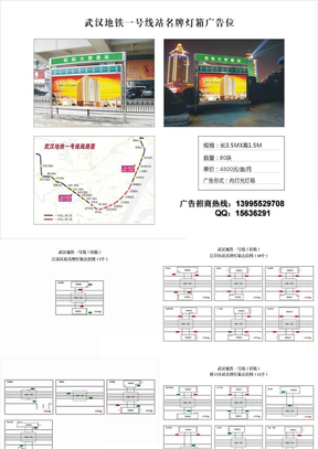 武汉地铁轻轨一号线站名牌灯箱广告位2012.ppt