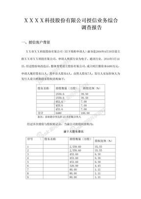 银行对公司授信业务综合调查报告.docx
