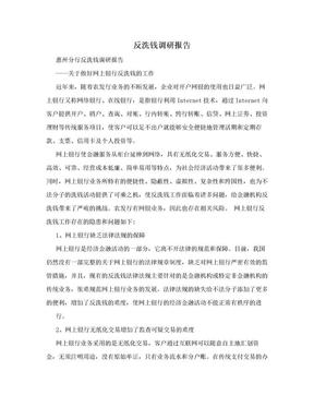 反洗钱调研报告.doc