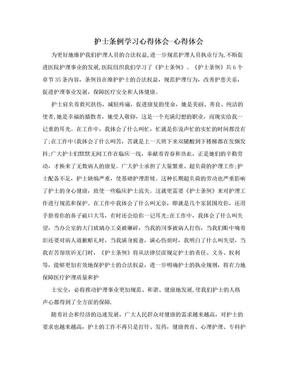 护士条例学习心得体会-心得体会.doc