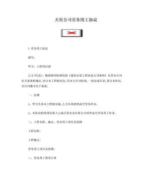 高空作业劳务用工协议.doc