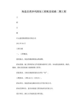 工程施工月报.doc