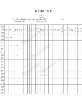 施工进度计划表(打印).doc