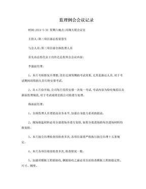 监理例会会议记录.doc