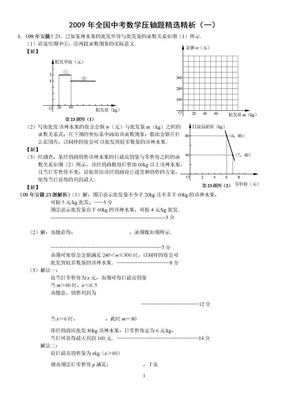 2011全国各省中考数学压轴题精选精析.doc