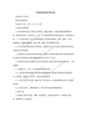 工程招投标管理办法.doc