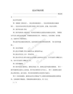 民办学校章程.doc