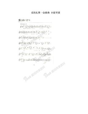 爱的礼赞 +金婚曲  小提琴谱.doc