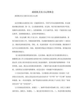 政府机关实习心得体会.doc