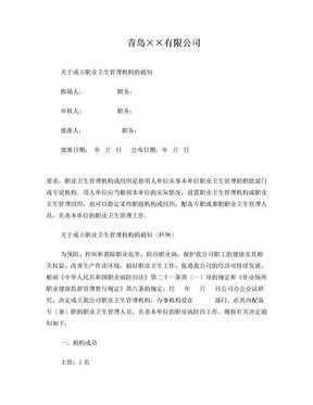 2职业卫生管理机构成立文件.doc