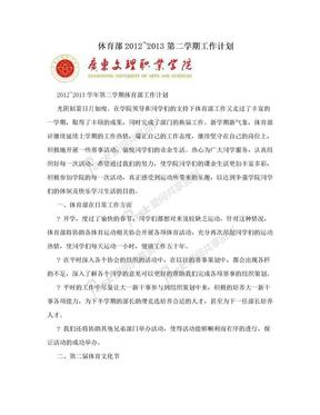 体育部2012~2013第二学期工作计划.doc