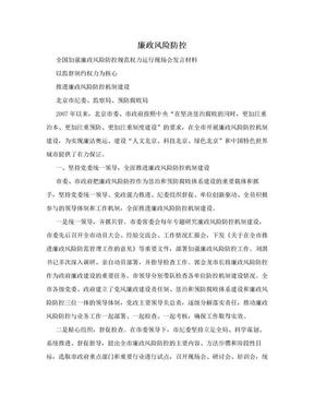 廉政风险防控.doc