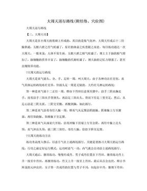 大周天巡行路线(附经络、穴位图).doc