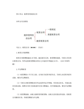 057讲_租赁合同、房屋租赁合同、融资租赁合同、承揽合同、建设工程合同.doc