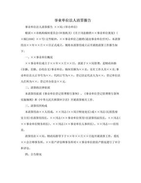 事业单位法人清算报告.doc