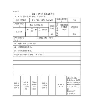 SG-029混凝土(弯拉)强度合格评定.doc