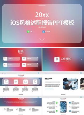 iOS风格述职报告PPT模板.pptx